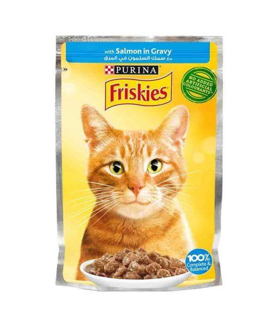 Purina Friskies Salamon Chunks in Gravy Wet Cat Food Pouch 85g